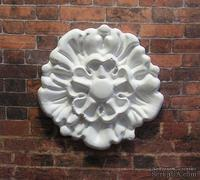 Гипсовый декоративный элемент от Е.В.А. - Розетка, 4.4 см