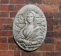 """Гипсовая камея от Е.В.А. - """"Мона Лиза"""" с патинированием, 3.6х2.8 см"""