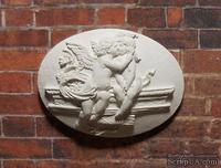 """Гипсовая камея """"Поцелуй ангела"""" от Е.В.А, 3,8х2,8см - ScrapUA.com"""