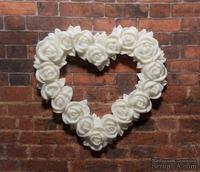 Пластиковая рамка сердце в розах от Е.В.А, 5,3х5см