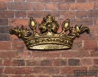 Пластиковая корона под золото от Е.В.А, 5,7х2,5см