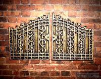 Пластиковые ворота под бронзу от Е.В.А, размер 8х4,5см
