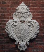 """Гипсовый декор """"Лев с щитом""""  от Е.В.А, размер 9,5х6,9см"""