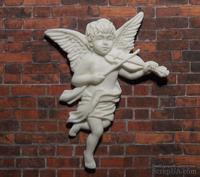 Пластиковый ангел со скрипкой от Е.В.А, 7х5,5см - ScrapUA.com