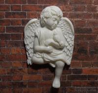 Пластиковый ангел с птичкой от Е.В.А, 7х4,3см