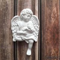 Гипсовое украшение - ангел с птичкой от Е.В.A, 4,2х6,7см
