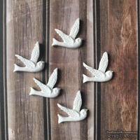 Набор гипсовых птичек от Е.В.A, 5 шт. - ScrapUA.com