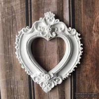 Гипсовое сердечко от Е.В.A, 7х7 см, 1 шт.