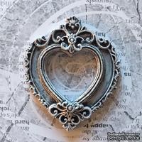 """Гипсовая рамка """"Сердце"""" с патенированием от Е.В.A, 5,8х7см, 1 шт."""