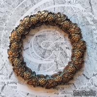 """Гипсовое украшение """"Венок"""" под античное золото от Е.В.A, 7см, 1 шт."""
