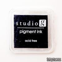Штемпельная подушечка Black, Studio G, черная, 5х5 см - ScrapUA.com