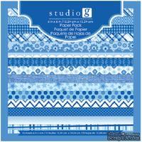 Набор скрапбумаги Studio G - Blue, цвет голубой, 15х15 см, 15 листов