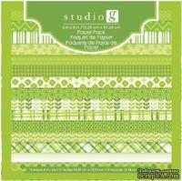 Набор скрапбумаги Studio G - Green, цвет зеленый, 15х15 см, 15 листов