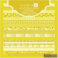 Набор скрапбумаги Studio G - Yellow, цвет желтый, 15х15 см, 15 листов
