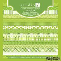 Набор бумаги от Studio G - Green, 15х15 см, 15 шт