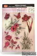"""Набор акриловых штампов от Viva-decor """"Цветы и бабочки"""", размер 14 x 18 см, 1 шт. - ScrapUA.com"""