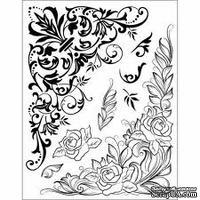 """Набор акриловых штампов от Viva-decor 14x18см """"Угловой орнамент"""""""