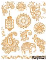 """Набор акриловых штампов от Viva-decor """"Индия"""", размер 14 x 18 см, 1 шт."""