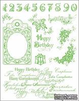 "Набор акриловых штампов от Viva-decor ""Happy Birthday"", размер 14 x 18 см, 1 шт."