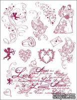 """Набор акриловых штампов от Viva-decor """"Любовь"""", размер 14 x 18 см, 1 шт."""