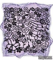 """Трафарет (маска)  от Viva-decor 29х29см """"Цветы и ноты"""""""