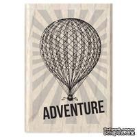 Резиновый штамп Studio G - Adventure Воздушный шар, 5.5х3.5 см, на деревянном блоке