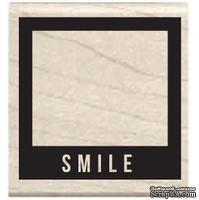 Резиновый штамп Studio G - Smile Фотокамера, 5х5 см, на деревянном блоке
