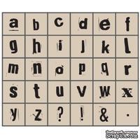 Набор резиновых штампов Studio G - Алфавит, Маленькие 1 печать, 30 штук, на деревянном блоке