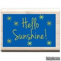 Резиновый штамп Studio G - Hello Sunshine, 5.5х3.5 см, на деревянном блоке