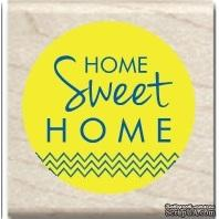 Резиновый штамп Studio G - Home sweet home, 5х5 см, на деревянном блоке