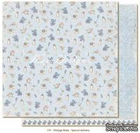 Лист двусторонней бумаги от Maja design - Vintage Baby - Special delivery30х30см