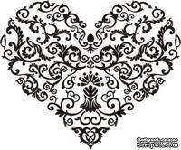 Акриловый штамп Stamp Vignette W018 Сердце, размер 5  * 4,2 см