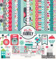 Набор двусторонней скрапбумаги от  Echo Park - We Are Family, 30х30 см