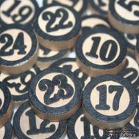Набор украшений от Maya Road - Wood Bingo Calendar Numbers (адвент календарь), цвет черный, 31 шт.