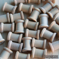 Деревянная катушка от Maya Road - Wood Mini Spools, размеры: 1см диаметр, высота 1.3см, 1 шт.