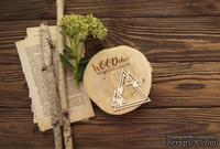 Чипборд от WOODchic - Композиция Треугольники, 9.2х9 см
