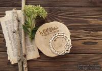 Чипборд от WOODchic - Рамка иллюминатор с шестернями, 8х8 см - ScrapUA.com