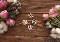 Чипборд от WOODchic - Набор снежинок №2, 2.5 см - ScrapUA.com