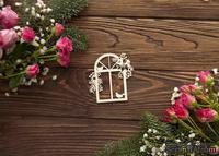 Чипборд от WOODchic - Рождественское окно, 7.6х8 см
