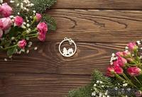 Чипборд от WOODchic - Новогодний шар домик и елочка с звездочкой, 4.5х5 см
