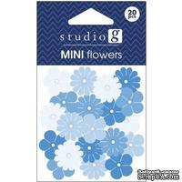 Набор бумажных цветов Studio G - Blue, цвет голубой, 20 штук