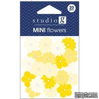 Набор бумажных цветов Studio G - Yellow, цвет желтый, 20 штук