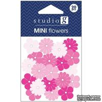 Набор бумажных цветов Studio G - Pink, цвет розовый, 20 штук