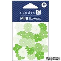 Набор бумажных цветов Studio G - Green, цвет зеленый, 20 штук