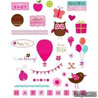 Набор высечек Studio G - Pink, цвет розовый, 37 штук
