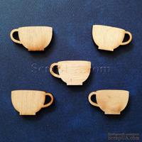 Деревянная фигурка WOOD-017 - Чашка, 1 штука