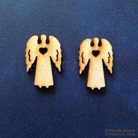Деревянная фигурка WOOD-020 - Ангел с сердечком, 1 штука