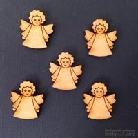 Деревянная фигурка WOOD-051 - Ангел с кудряшками, 1 штука
