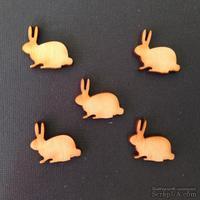 Деревянная фигурка WOOD-054 - Пасхальный кролик, 1 штука