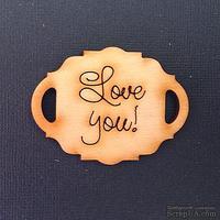 Деревянная фигурка WOOD-059 - Love You, 1 штука